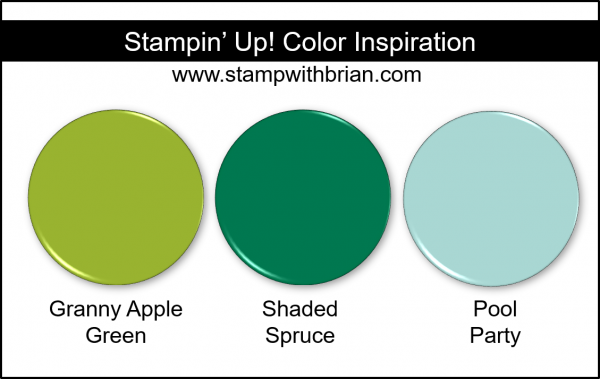 Stampin' Up! Color Inspiration - Granny Apple Green, Shaded Spruce, Pool Party