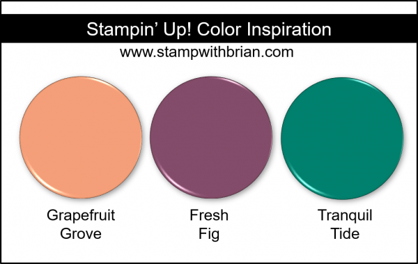 Stampin' Up! Color Inspiration - Grapefruit Grove, Fresh Fig, Tranquil Tide
