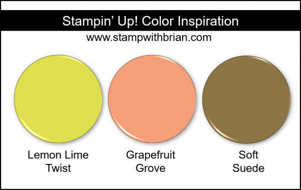 Stampin' Up! Color Inspiration - Lemon Lime Twist, Grapefruit Grove, Soft Suede