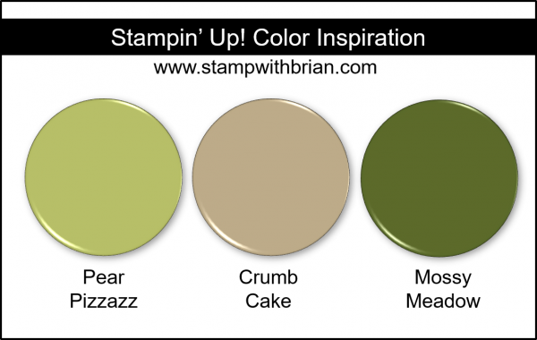 Stampin' Up! Color Inspiration - Pear Pizzazz, Crumb Cake, Mossy Meadow
