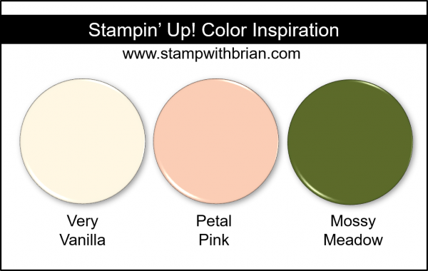 Stampin' Up! Color Inspiration - Very Vanilla, Petal Pink, Mossy Meadow