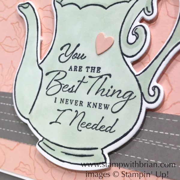 Tea Together, Tea Time Framelits Dies, Wonderful Romance, Stampin' Up!, Brian King