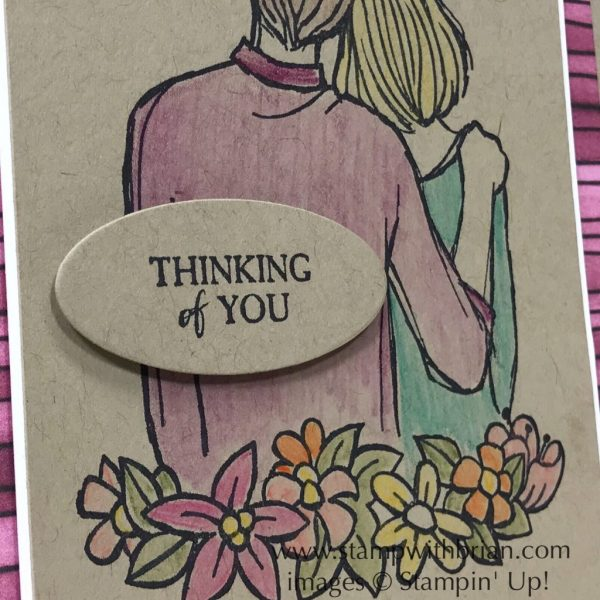To Have and To Hold, By the Bay, Stampin' Up!, Brian King, thinking of you card
