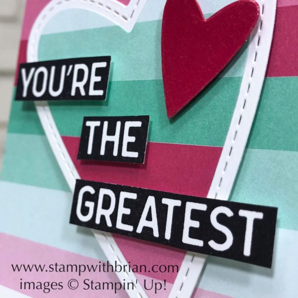 Calls for a Celebration, Stampin' Up!, Brian King, Valentine's Day card