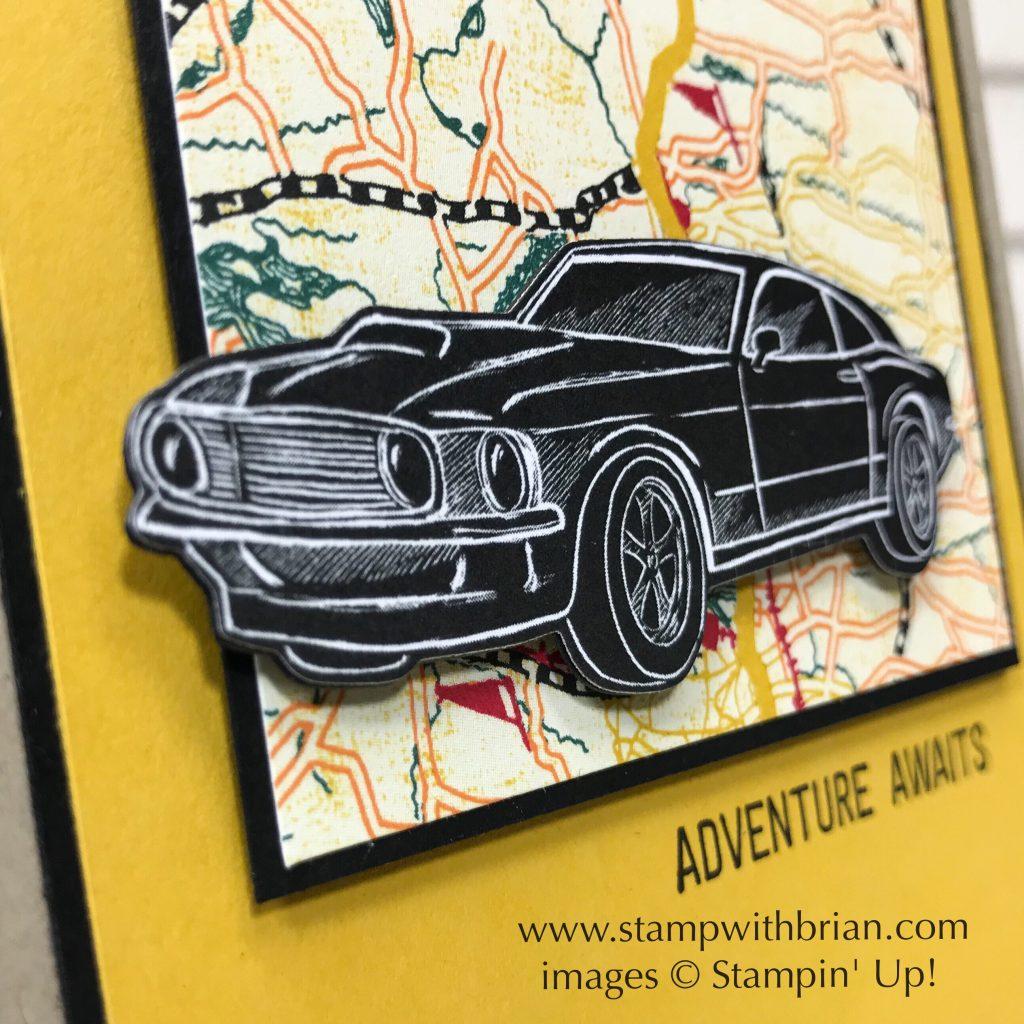 Classic Garage Designer Series Paper, Garage Gears Thinlits, En Route, Stampin' Up!, Brian King