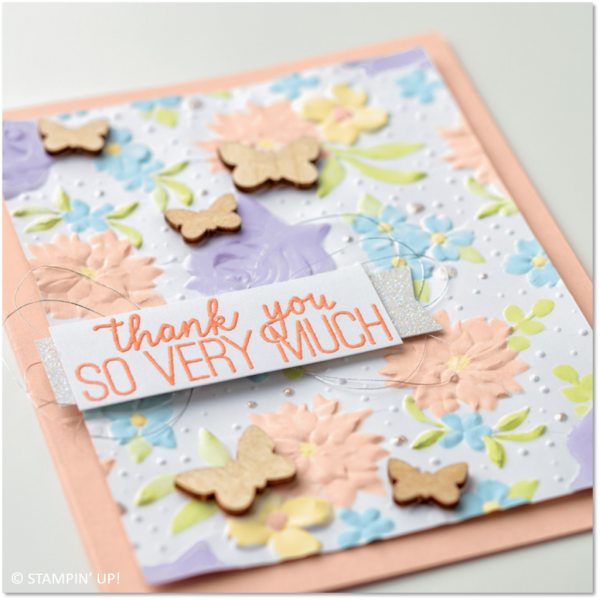 Country Floral Embossing Folder Sample, Stampin' Up!