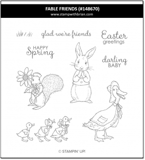 Fable Friends, Stampin' Up! 148670
