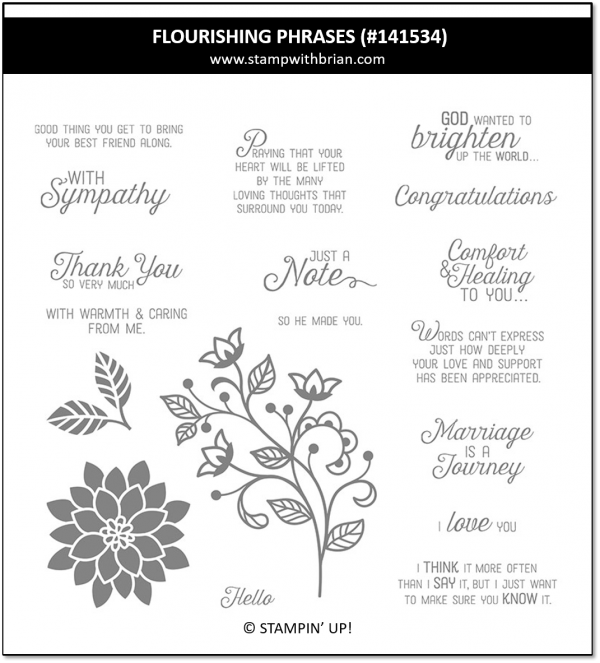 Flourishing Phrases, Stampin' Up! 141534