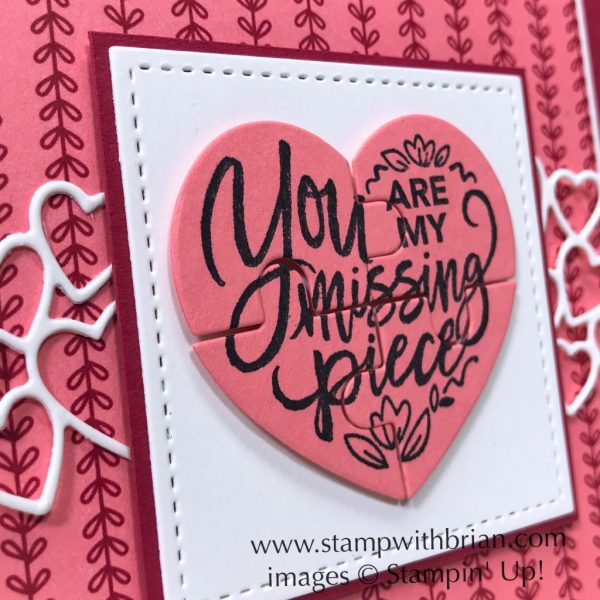 Love You To Pieces Bundle, Be Mine Stitched Framelits Dies, Stampin' Up!, Brian King, Valentine's Day card