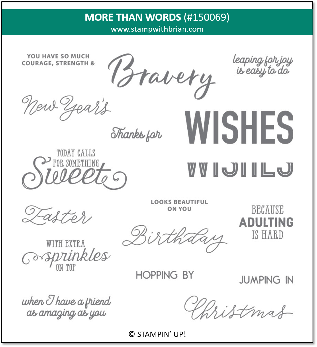 More Than Words, Stampin' Up! 150069