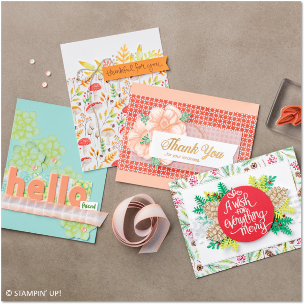 Painted Seasons Bundle Samples, Stampin' Up!