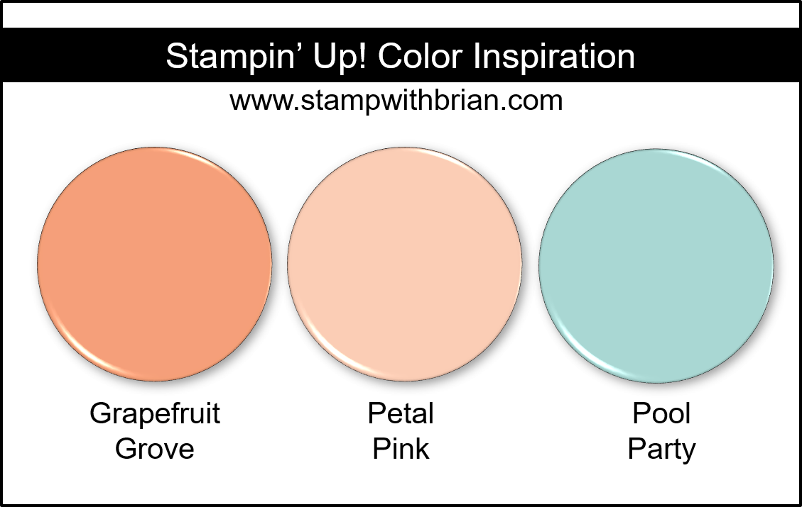 Stampin' Up! Color Inspiration - Grapefruit Grove, Petal Pink, Pool Party