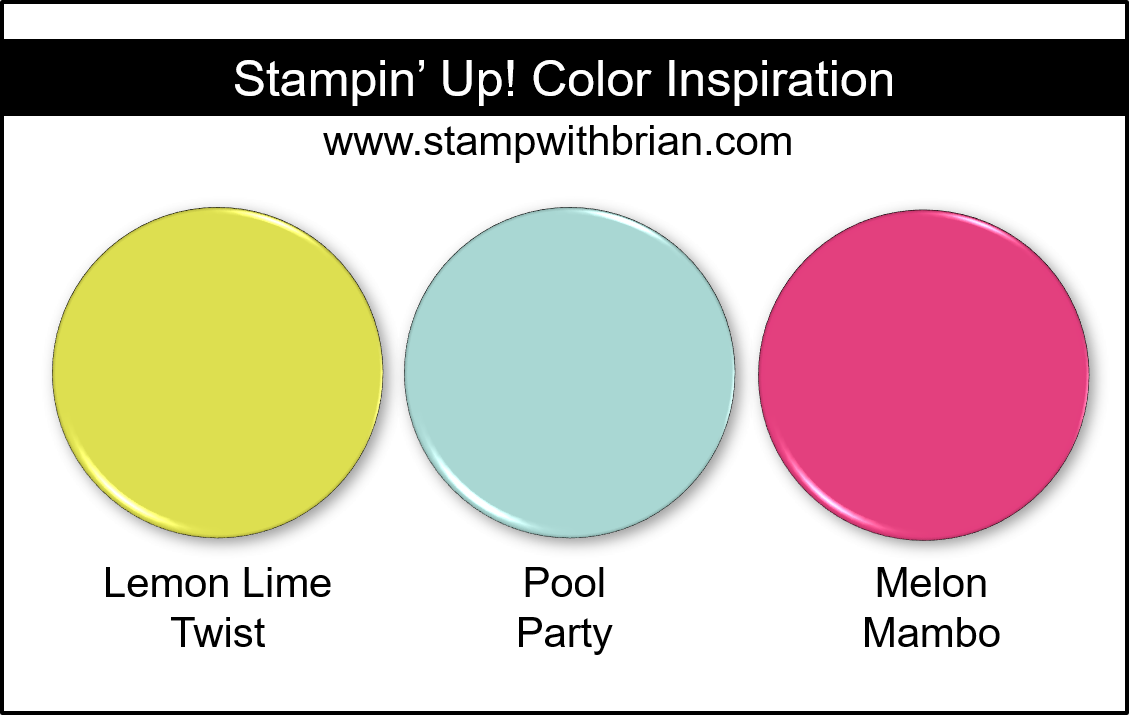 Stampin' Up! Color Inspiration - Lemon Lime Twist, Pool Party, Melon Mambo