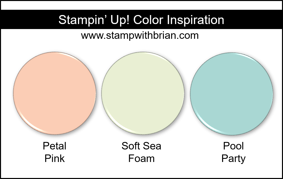 Stampin' Up! Color Inspiration - Petal Pink, Soft Sea Foam, Pool Party