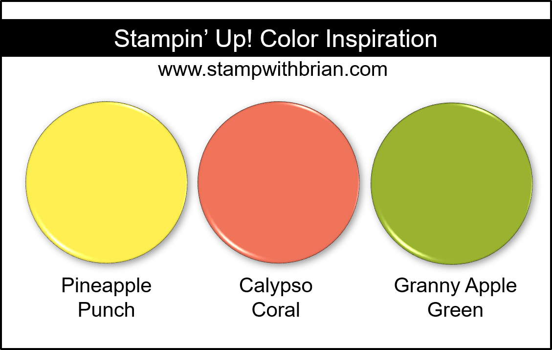 Stampin' Up! Color Inspiration - Pineapple Punch, Calypso Coral, Granny Apple Green