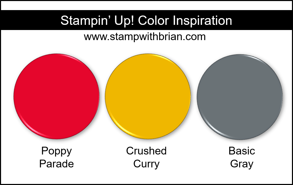Stampin' Up! Color Inspiration - Poppy Parade, Crushed Curry, Basic Gray