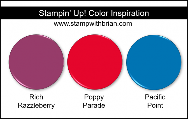 Stampin' Up! Color Inspiration - Rich Razzleberry, Poppy Parade, Pacific Point