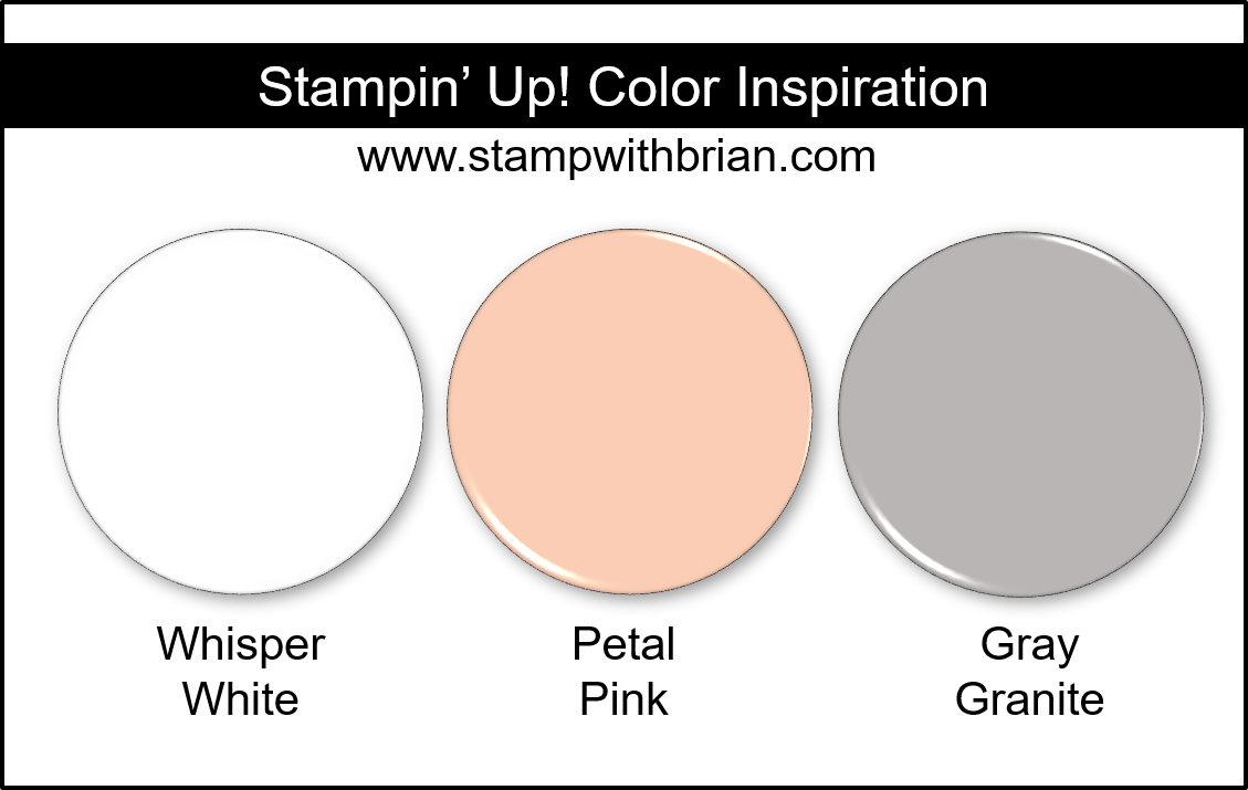 Stampin' Up! Color Inspiration - Whisper White, Petal Pink, Gray Granite