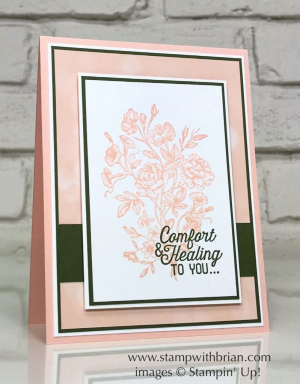 Very Vintage, Flourishing Phrases, Stampin' Up!, Brian King, sympathy card