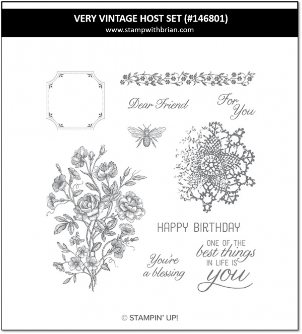 Very Vintage Host Set, Stampin' Up! 146801
