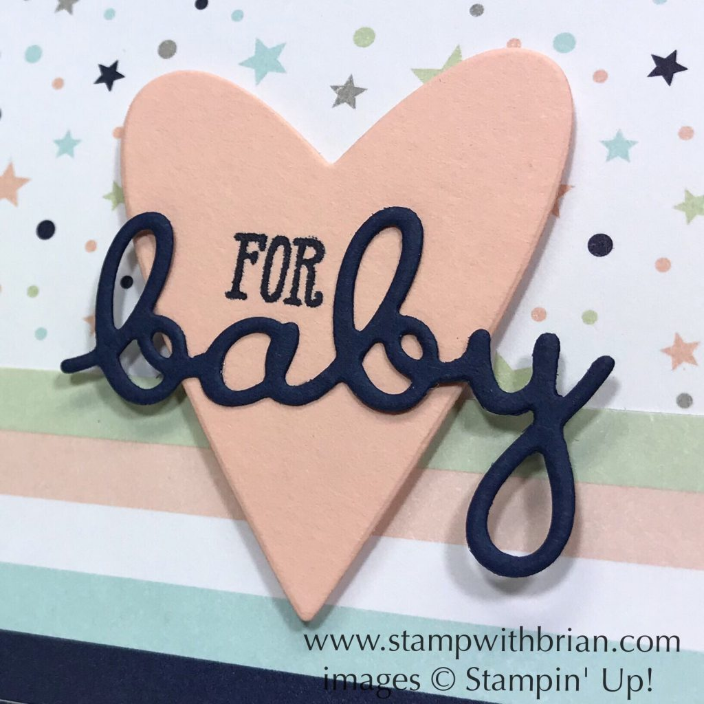 Well Said Bundle, Twinkle Twinkle Designer Series Paper, Stampin' Up!, Brian King, baby card