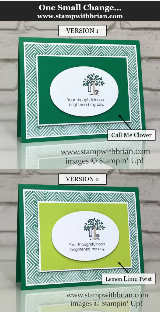 One Small Change Can Make a Big Difference, Stampin' Up!, Brian King