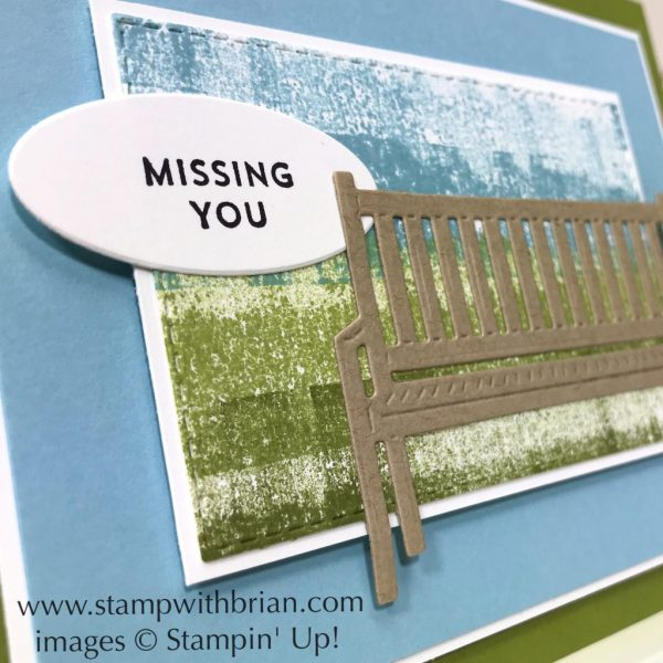 Pretty Park Framelits Dies, Oh So Eclectic, Stampin' Up!, Brian King, Painters Tape Technique