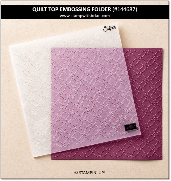 Quilt Top Textured Impressions Embossing Folder, Stampin' Up!, 144687