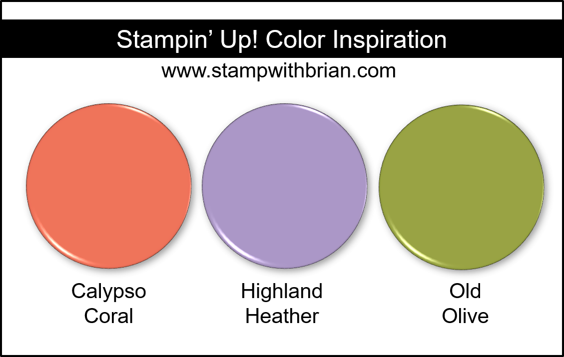 Stampin' Up! Color Inspiration - Calypso Coral, Highland Heather, Old Olive