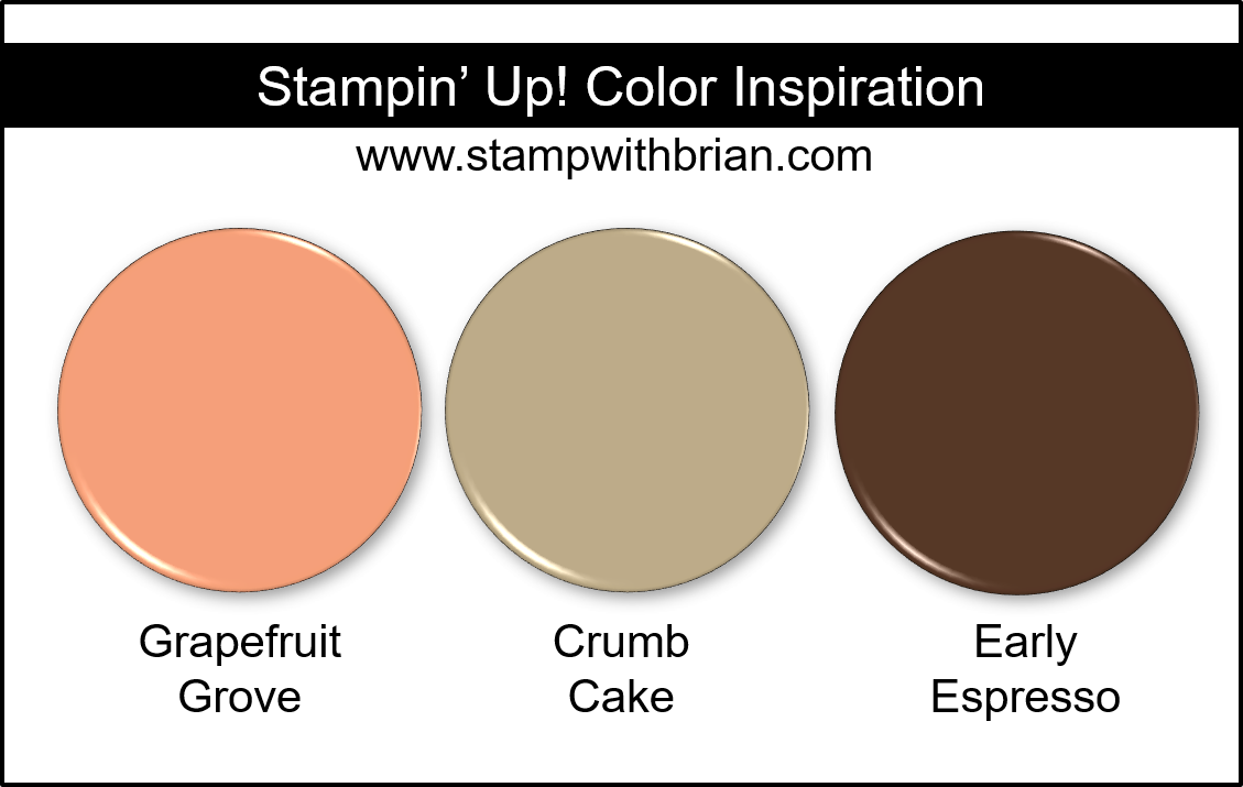 Stampin' Up! Color Inspiration - Grapefruit Grove, Crumb Cake, Early Espresso