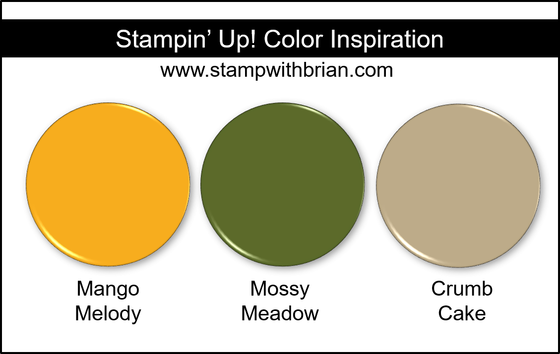 Stampin' Up! Color Inspiration - Mango Melody, Mossy Meadow, Crumb Cake