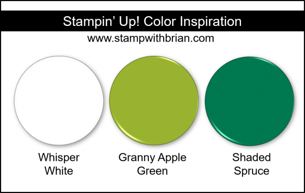 Stampin' Up! Color Inspiration - Whisper White, Granny Apple Green, Shaded Spruce