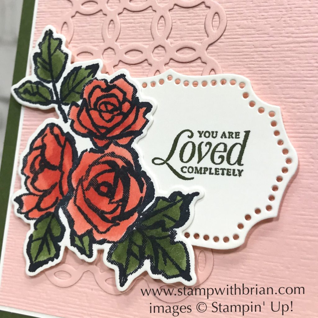 Strong & Beautiful, Petal Palette, Rose Trellis Thinlits Dies, Stampin' Up!, Brian King