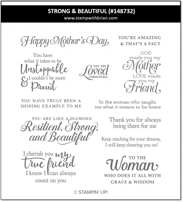 Strong & Beautiful, Stampin' Up! 148732