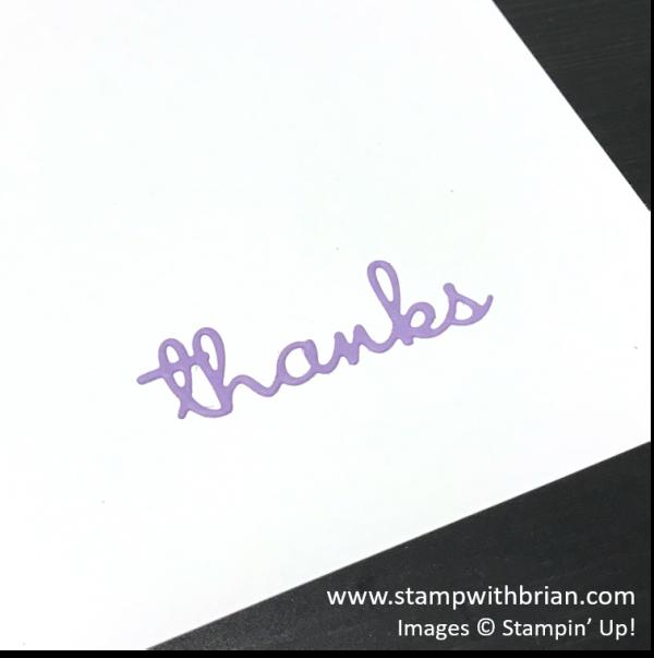 Using Adhesive Sheets with Thin Dies, Stampin' Up!, Brian King