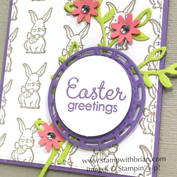 A Good Day, Fable Friends, Stampin' Up!, Brian King, Easter card