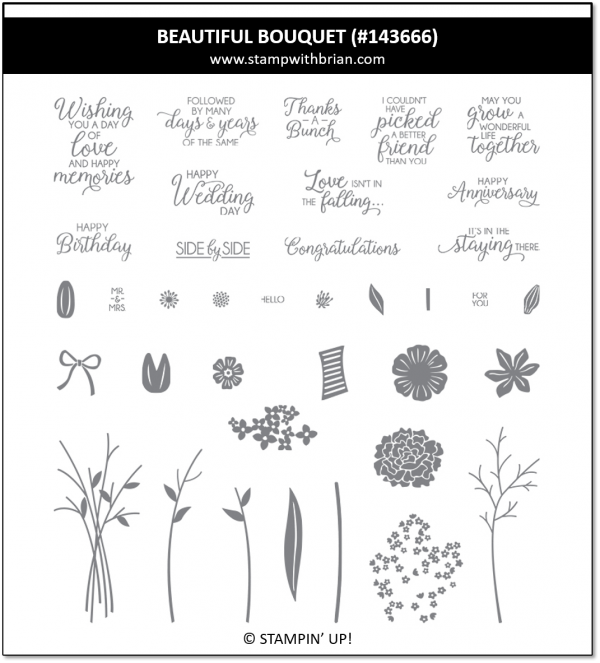 Beautiful Boquet, Stampin' Up 143666