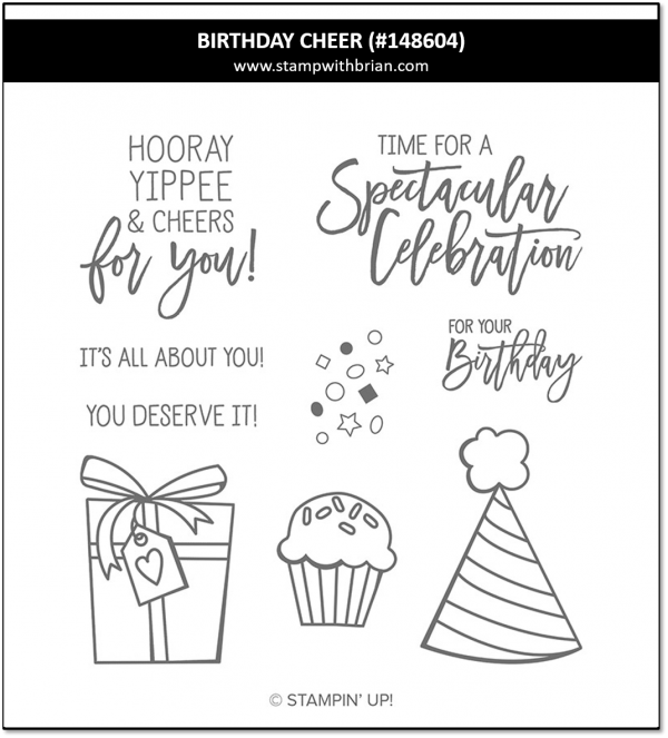 Birthday Cheer, Stampin' Up!, 148604