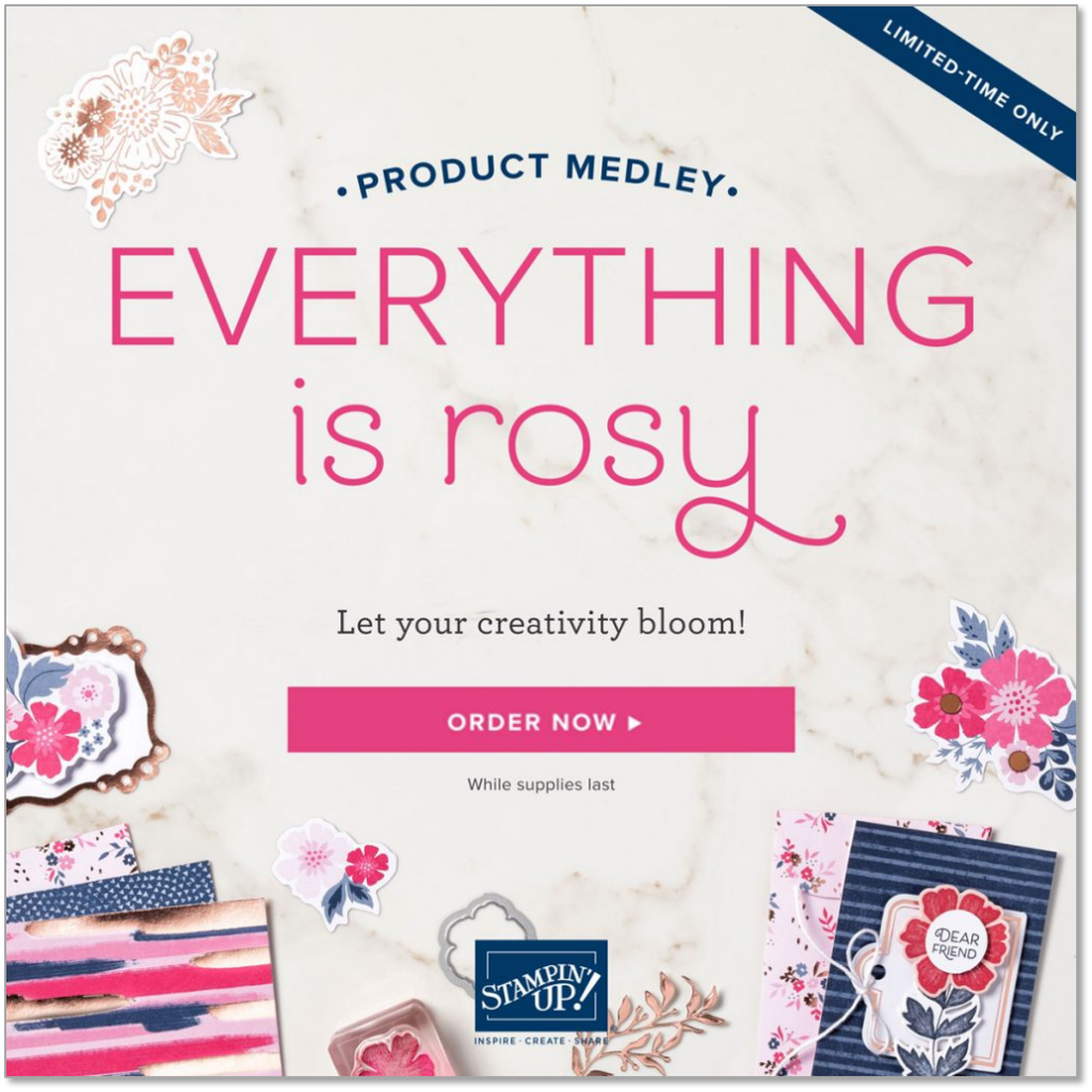 Everything is Rosy Product Medley, Stampin' Up! 150059 order now