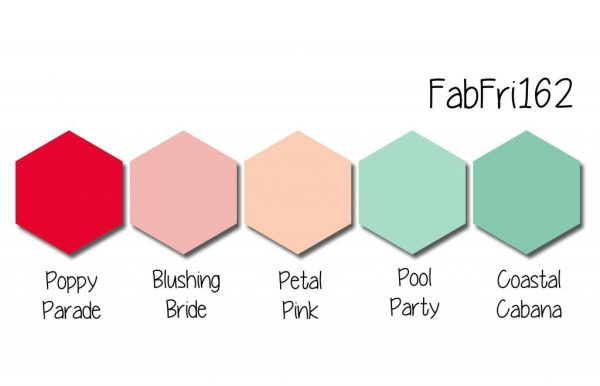 Stampin' Up! Color Inspiration: Poppy Parade, Blushing Bride, Petal Pink, Pool Party, Coastal Cabana