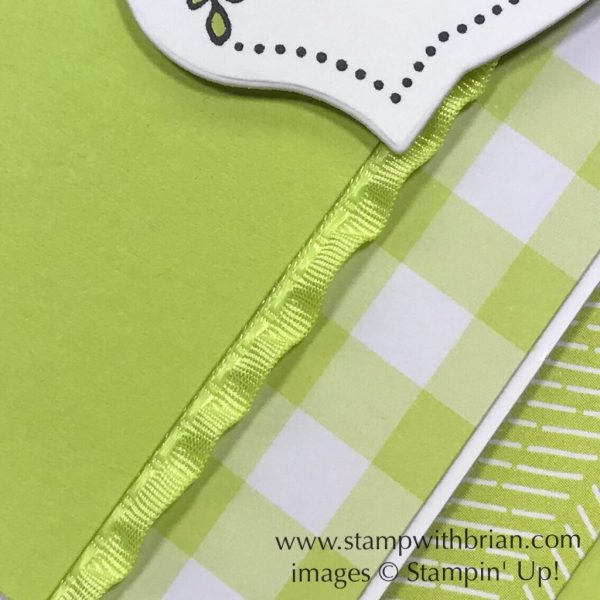 Lemon Lime Twist Ruffled Ribbon, Stampin' Up!, Brian King