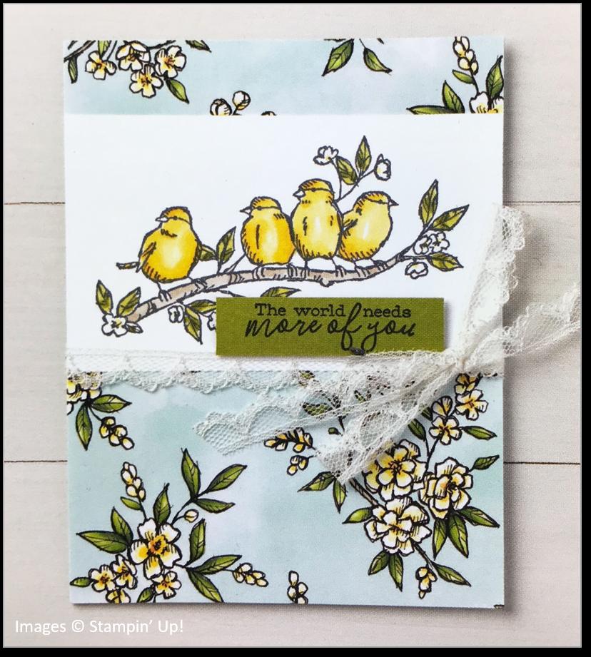 Free as a Bird, Bird Ballad Designer Series Paper, Stampin' Up! OnStage sample