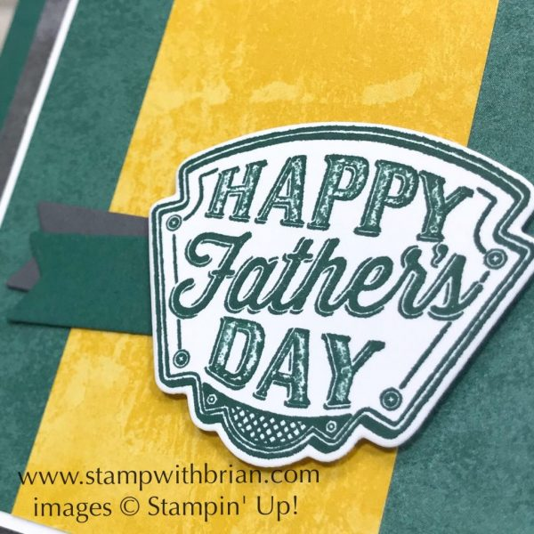 Geared Up Garage, Stampin' Up!, Brian King, Father's Day card