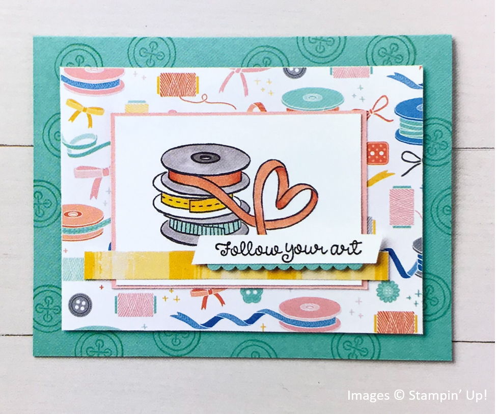 It Starts with Art, Follow Your Art Designer Series Paper, Stampin' Up! OnStage Sample
