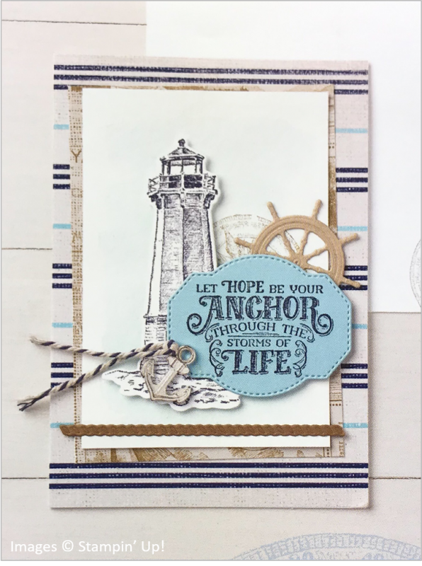 Sailing Home Bundle, Come Sail Away Designer Series Paper, Stampin' Up! OnStage sample