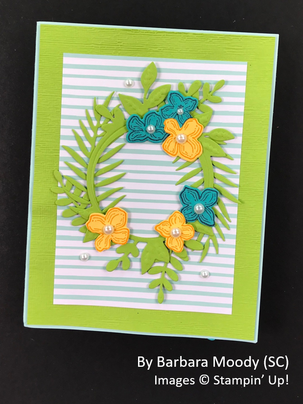 Spring One-for-One Card Swap, Stampin' Up!, by Barbara Moody