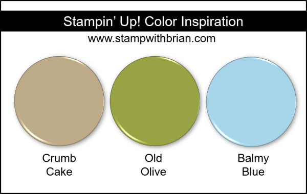Stampin' Up! Color Inspiration - Crumb Cake, Old Olive, Balmy Blue