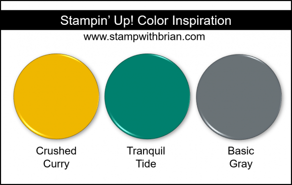 Stampin' Up! Color Inspiration - Crushed Curry, Tranquil Tide, Basic Gray