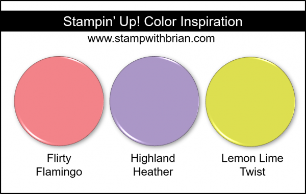 Stampin' Up! Color Inspiration - Flirty Flamingo, Highland Heather, Lemon Lime Twist