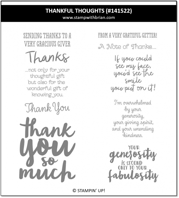 Thankful Thoughts, Stampin' Up! 141522
